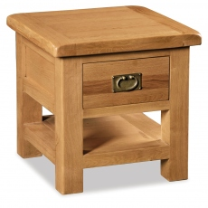 Cheltenham Oak Lamp Table With Drawer
