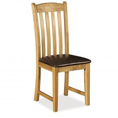 Cheltenham Oak Ladder Chair With Brown Seat