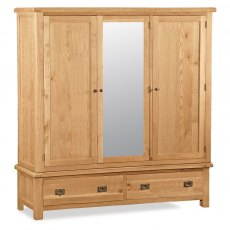 Cheltenham Oak Extra Large Triple Wardrobe