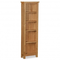 Surrey  Oak Compact Slim Bookcase