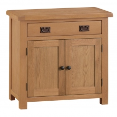 Odessa Oak Small 2 Door 1 Drawer Sideboard