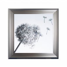 Dandelion Breeze Right Liquid Artwork with Swarovski Crystals