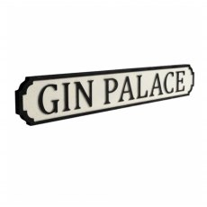 Gin Palace Vintage Street Sign White
