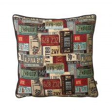 Number Plates Cushion