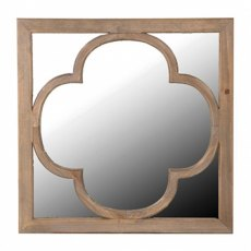Wooden Relief Mirror