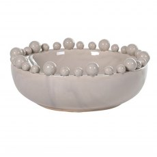 Cream Bowl with Spherical Detail