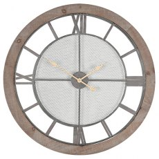Natural Wood Round Wall Clock