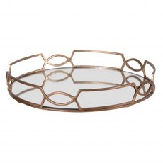 Scroll Mirrored Tray