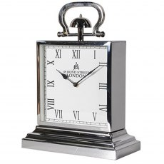 Square Steel Mantel Clock