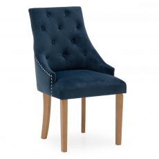 Tamar Dining Chair Velvet Midnight