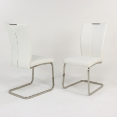 2 x White Opus Dining Chair