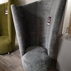Grafi Grey Curve Chair