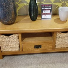TV Stand with 2 Baskets