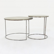 Trieste Gold Circular Coffee Tables