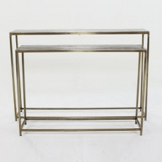 Trieste Silver Console Table