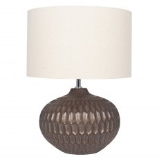 Bronze Textured Glazed Ceramic Table Lamp