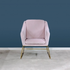 Victoria James Holborn Accent Chair Pink