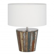 Reclaimed Wood Tapered Lamp