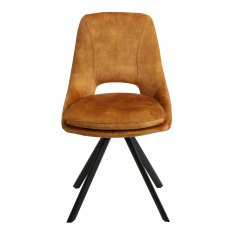 Rolo Dining Chair Mustard