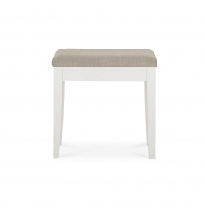 Ashby White Dresser Stool