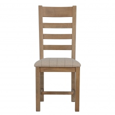 Gloucester Slatted Dining Chair Natural Check