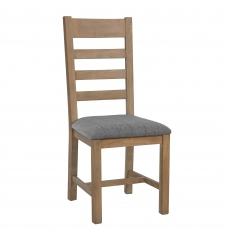 Gloucester Slatted Dining Chair Grey Check
