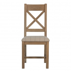 Gloucester Cross Back Dining Chair Natural Check