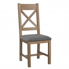 Gloucester Cross Back Dining Chair Grey Check