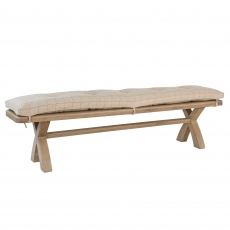 Gloucester 2m Bench Cushion Natural Check