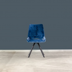 Aiden Velvet Dining Chair Blue