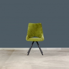 Aiden Velvet Dining Chair Green