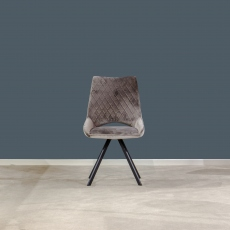 Aiden Velvet Dining Chair Grey