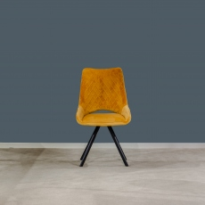 Aiden Velvet Dining Chair Yellow