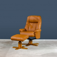 Dubai Swivel Recliner & Stool