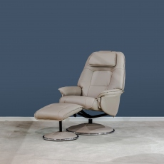 Avant Garde Swivel Recliner & Stool