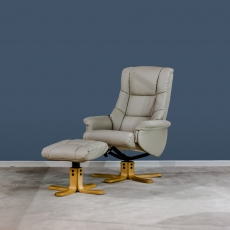 Ferrara Swivel Recliner & Stool