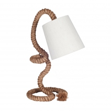 Rope and Jute Task Table Lamp