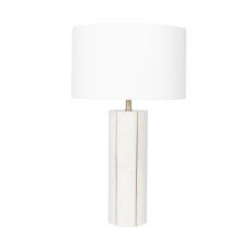 Marble and Gold Metal Tall Table Lamp