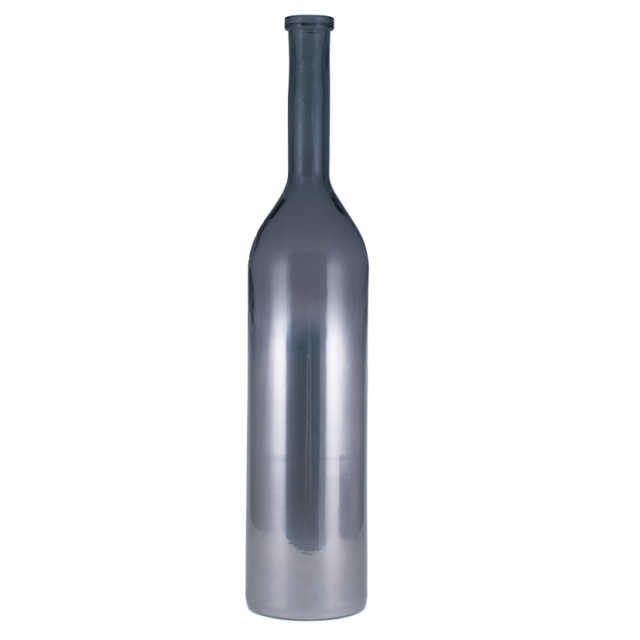 Ombre Platinum Recycled Glass Rioja Bottle 50cm