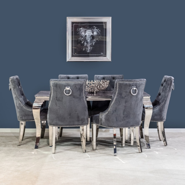 Vida Living Bartez 160cm Dining Table & Buckingham Chairs