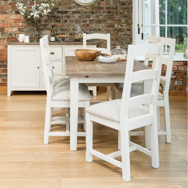 Camilla Reclaimed Padded Dining Chair FSC Certified