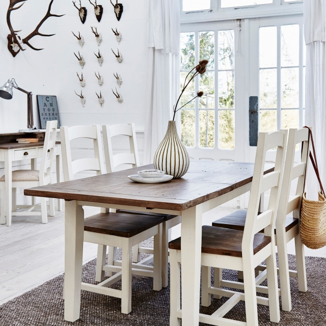 Camilla Reclaimed Extending Dining Table