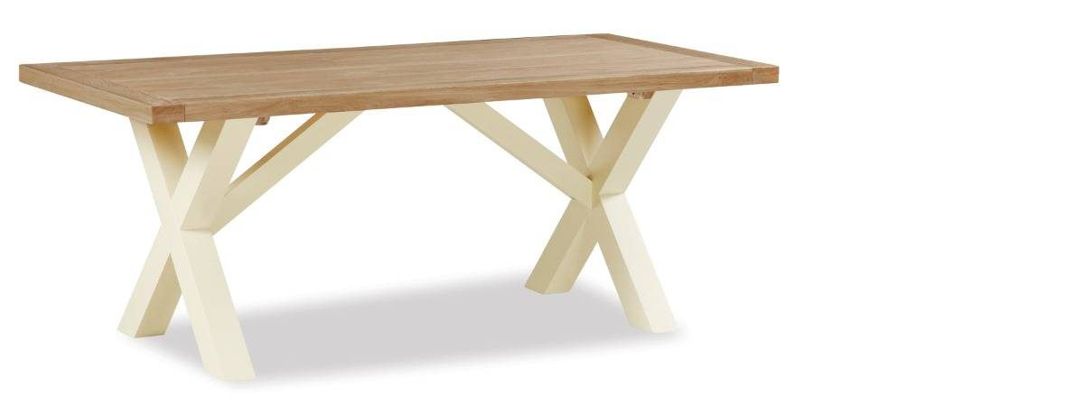 Country Cottage Cross Wooden Dining Table