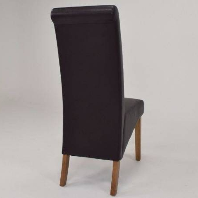 Maine Dining Chair PU Brown