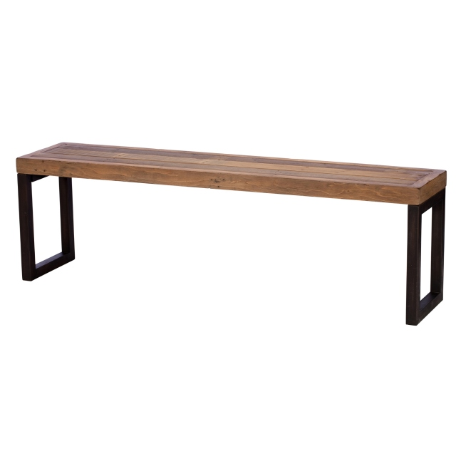 Reclaimed Ranch Large Wooden Bench FSC Certified