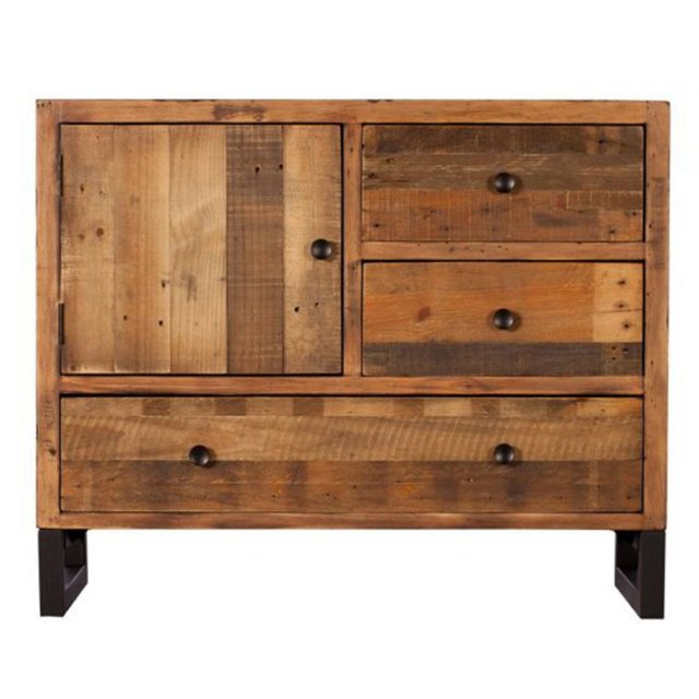 Reclaimed Ranch Narrow Wooden Sideboard FSC Certified