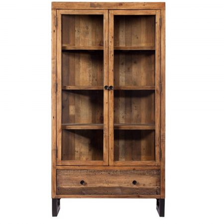Reclaimed Ranch Wooden Display Cabinet FSC Certified
