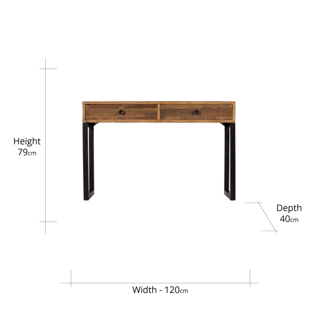 Blake 2 Drawer Console Table FSC Certified