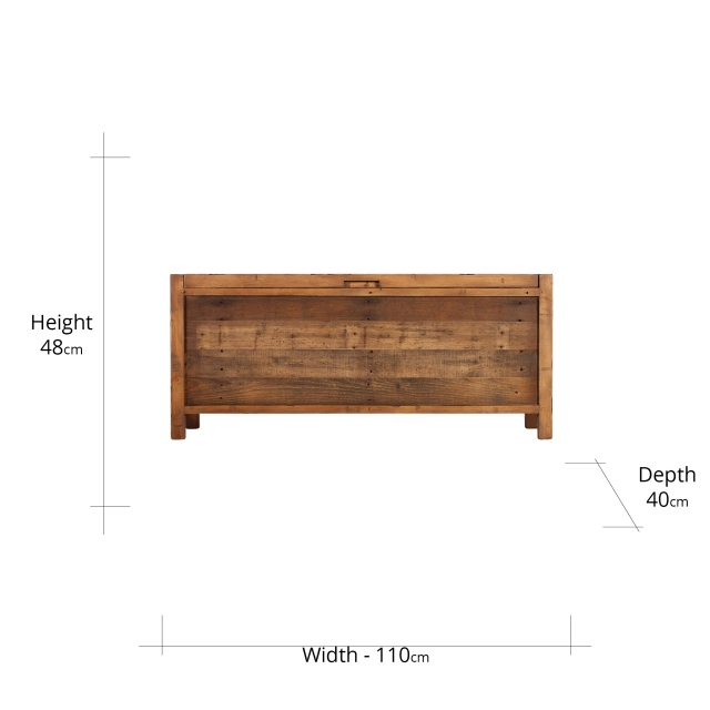 Reclaimed Ranch Blanket Box FSC Certified