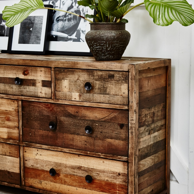 Reclaimed Ranch 7 Drawer Wide Chest FSC Certified